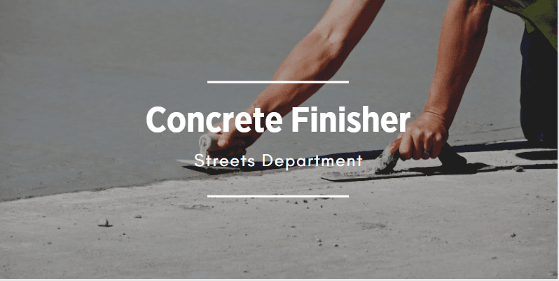 Picture of concrete finisher